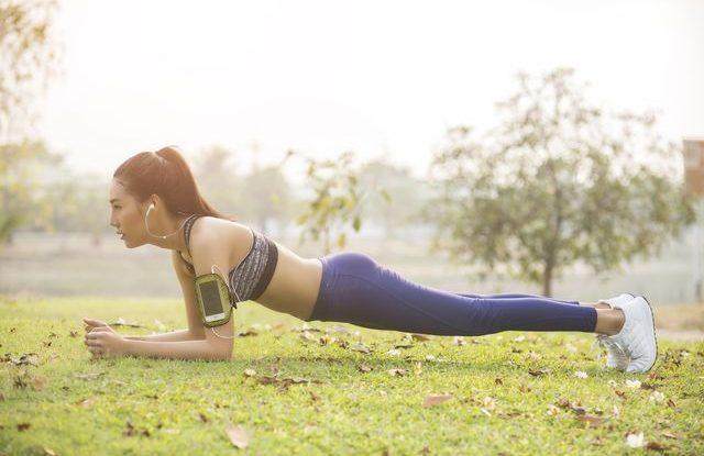 Posilování při běhání, cvičení prkna