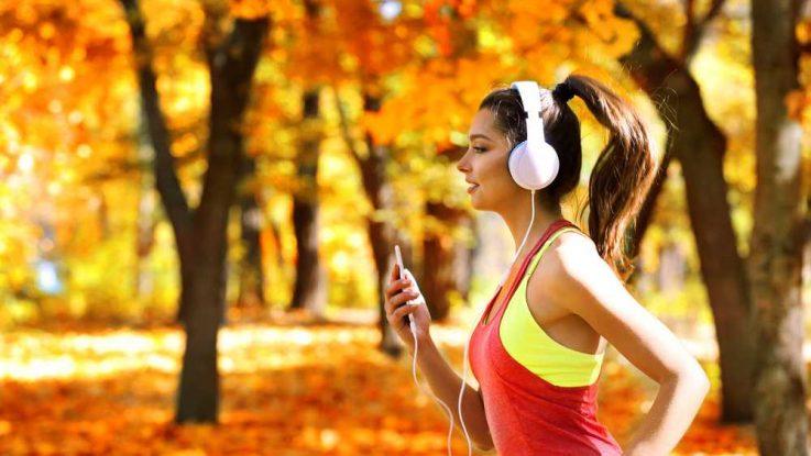Běhání se sluchátky