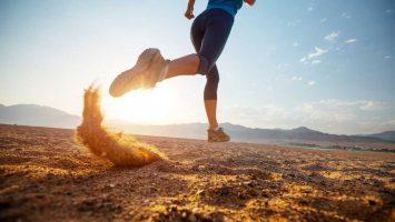 Běhání v horku na poušti