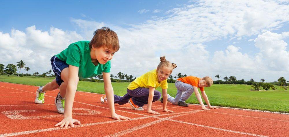 Běhání dlouhé tratě s dětmi