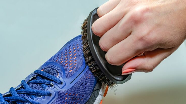 čištění běžeckých bot